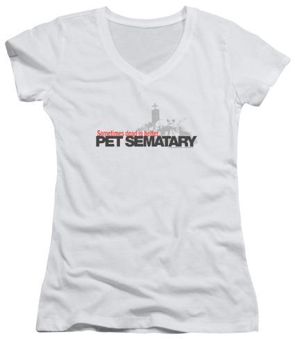 Juniors: Pet Sematary - Logo V-Neck Womens V-Necks