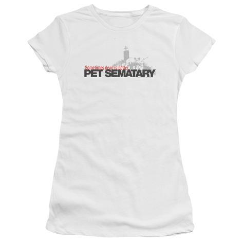 Juniors: Pet Sematary- Logo Womens T-Shirts