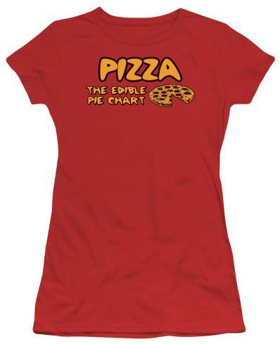 Juniors: PIZZA Womens T-Shirts