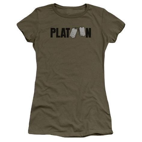 Juniors: Platoon- Tag Logo Womens T-Shirts
