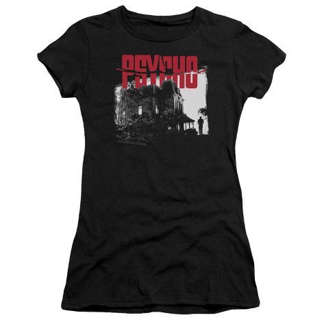 Juniors: Psycho- Bates House Womens T-Shirts