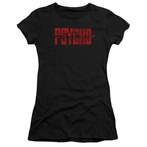 Juniors: Psycho- Psycho Logo Womens T-Shirts
