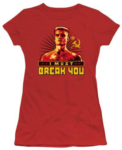 Juniors: Rocky - I Must Break You Womens T-Shirts