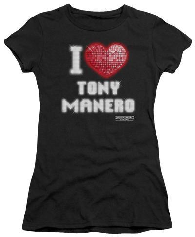 Juniors: Saturday Night Fever - I Heart Tony Womens T-Shirts