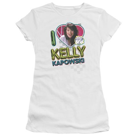 Juniors: Saved By The Bell-I Love Kelly Womens T-Shirts