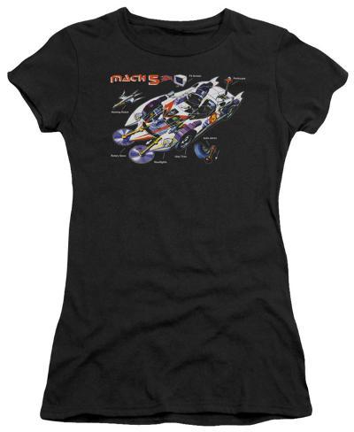 Juniors: Speed Racer-Mach 5 Specs Juniors (Slim) T-Shirt