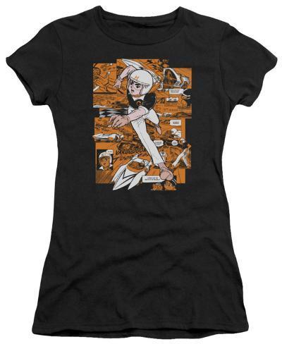 Juniors: Speed Racer-Manga Panels Juniors (Slim) T-Shirt