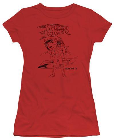 Juniors: Speed Racer-Racer X Distressed Juniors (Slim) T-Shirt