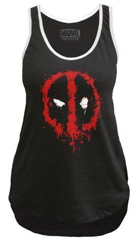 958de7796 Juniors Sport Tank Top  Deadpool- Splatter Logo Regatas femininas na ...