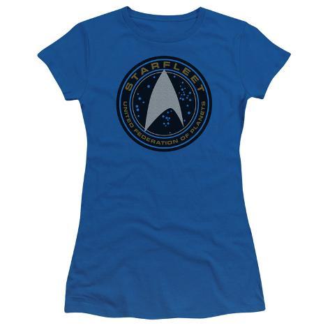 Juniors: Star Trek Beyond- Starfleet Patch Womens T-Shirts