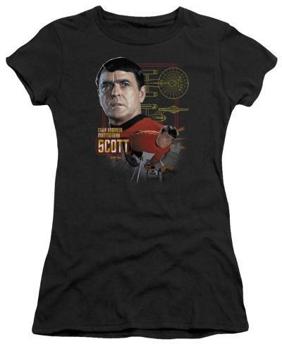 Juniors: Star Trek-Chief Engineer Scott Womens T-Shirts
