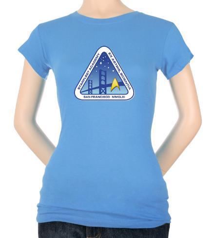 Juniors: Star Trek-Color Logo Womens T-Shirts