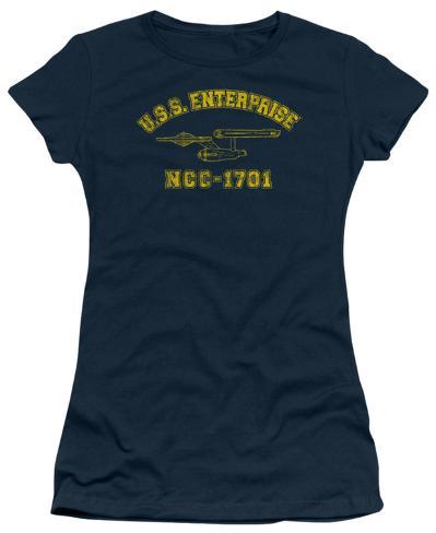 Juniors: Star Trek-Enterprise Athletic Womens T-Shirts