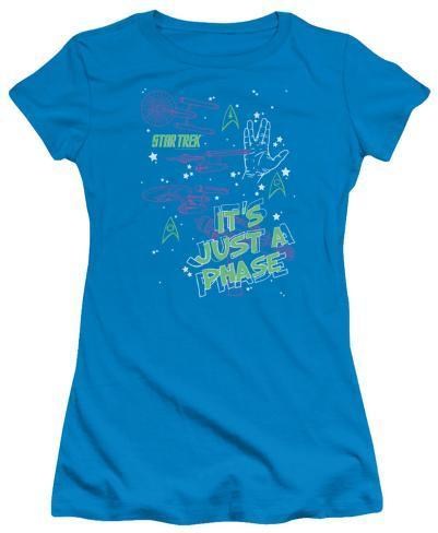 Juniors: Star Trek - Just a Phase Womens T-Shirts
