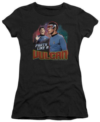 Juniors: Star Trek - Party Like A Vulcan Womens T-Shirts