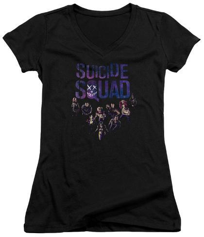 Juniors: Suicide Squad- Class Photo V-Neck Womens V-Necks