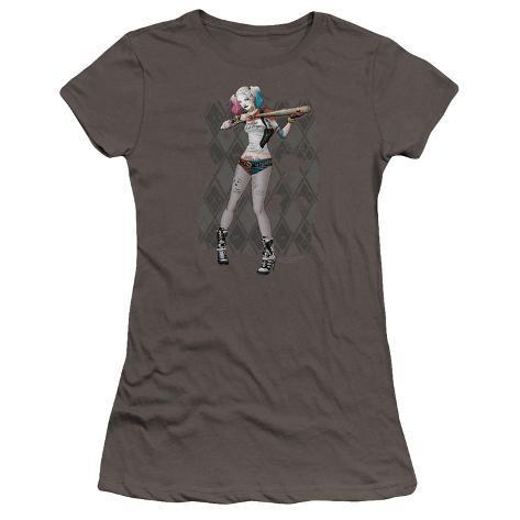 Juniors: Suicide Squad- Harley Loaded Bat Argyle (Premium) Womens T-Shirts