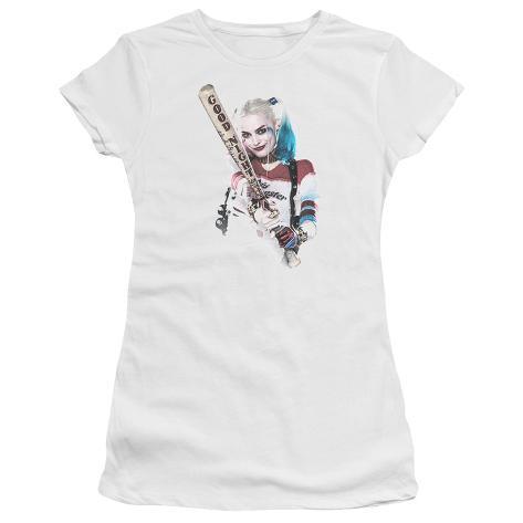 Juniors: Suicide Squad- Harley Quinn At Bat (Premium) Womens T-Shirts