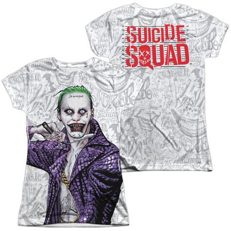 Juniors: Suicide Squad- Joker Close Shave Etches (Front/Back) Womens Sublimated