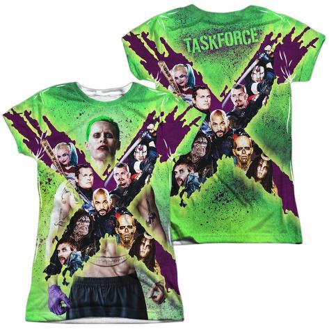 Juniors: Suicide Squad- Joker Vs. Taskforce X (Front/Back) Womens Sublimated