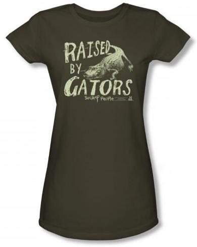Juniors: Swamp People - Raised by Gators T-Shirt