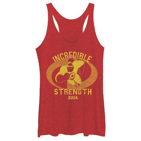 Juniors Tank Top: Disney: The Incredibles- Incredible Strength 2004 Scoop Neck Regatas femininas