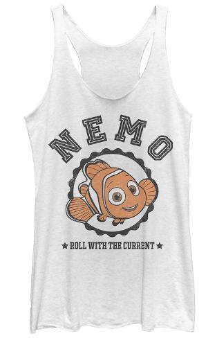 Juniors Tank Top: Finding Dory- Nemo Varsity Womens Tank Tops