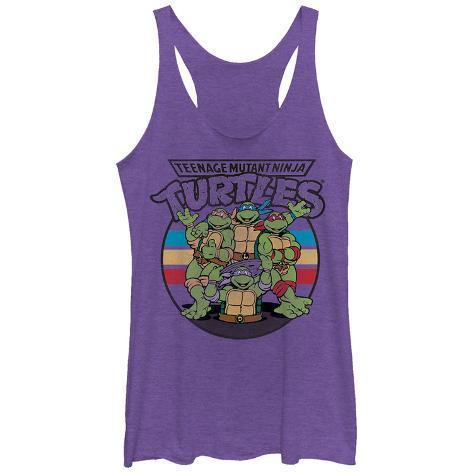Juniors Tank Top: Teenage Mutant Ninja Turtles- Raf, Weekend Warrior Scoop Neck Linnen för damer