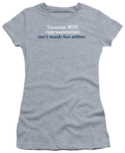 Juniors: Taxation with Representation Juniors (Slim) T-Shirt