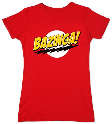 Juniors: The Big Bang Theory - Bazinga Womens T-Shirts