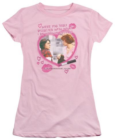 Juniors: The Breakfast Club - Lipstick Womens T-Shirts