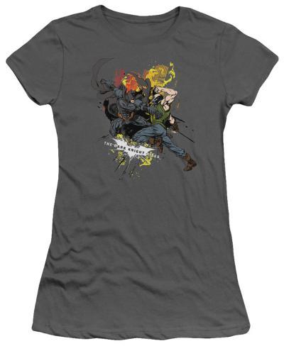 Juniors: The Dark Knight Rises - Fight For Gotham Juniors (Slim) T-Shirt