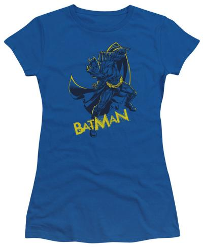 Juniors: The Dark Knight Rises - Left Hook Juniors (Slim) T-Shirt