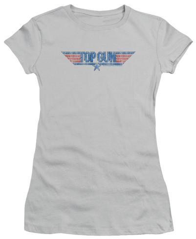 Juniors: Top Gun - 8 Bit Logo Womens T-Shirts