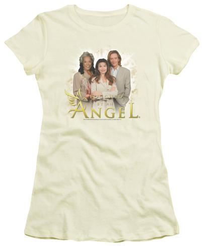 Juniors: Touched by an Angel - Angel Cloud Womens T-Shirts