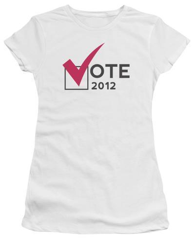 Juniors: Vote 2012 Juniors (Slim) T-Shirt