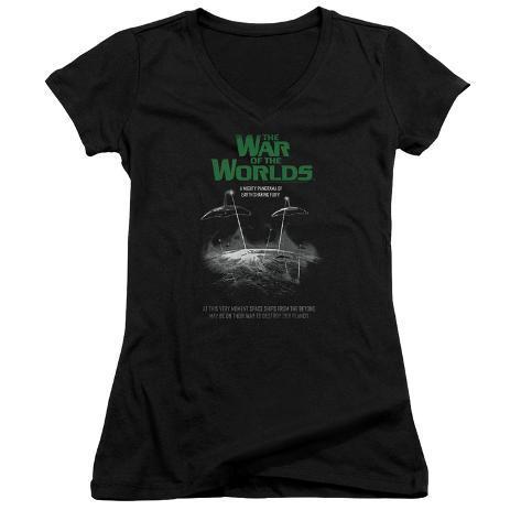 Juniors: War Of The Worlds - Attack Poster V-Neck Womens V-Necks