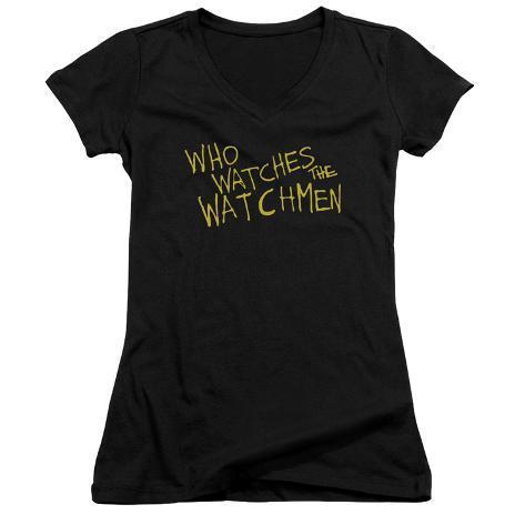 Juniors: Watchmen - Who Watches V-Neck Womens V-Necks