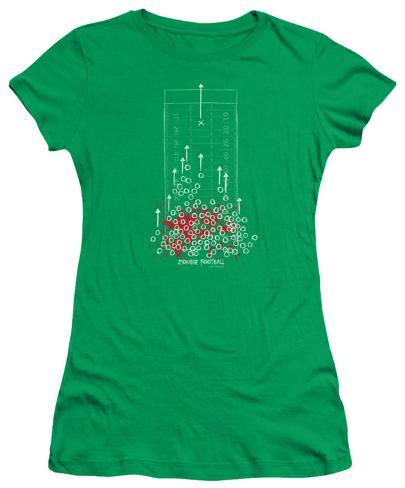 Juniors: Zombie Football Womens T-Shirts