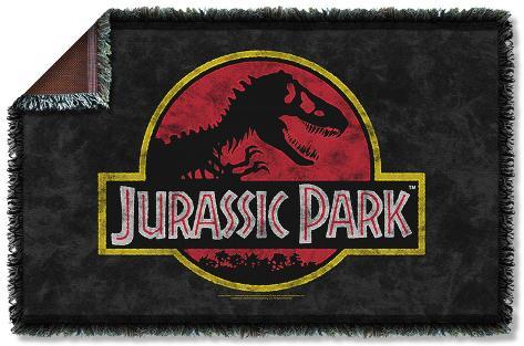 Jurassic Park - Classic Logo Woven Throw Throw Blanket