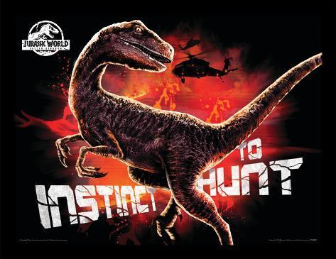 Jurassic World Fallen Kingdom - Instinct To Hunt Collector Print