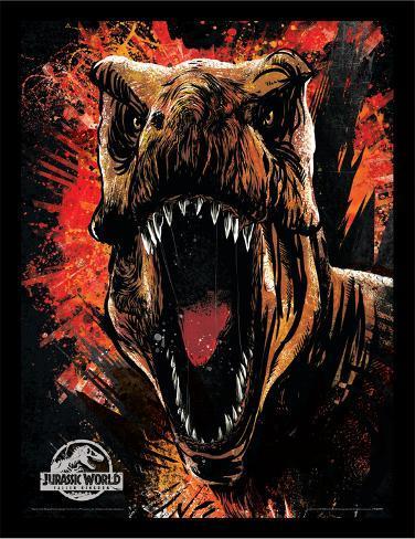 Jurassic World Fallen Kingdom - T-Rex Sketch Collector Print