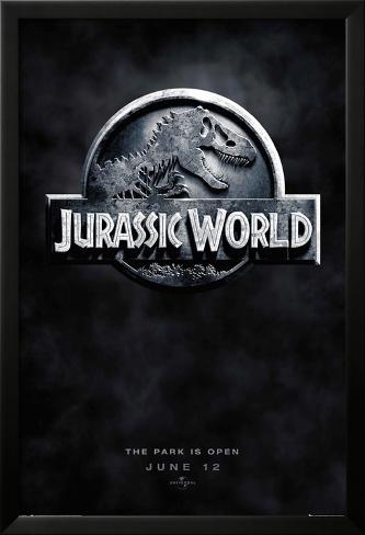 Jurassic World Logo Teaser Póster enmarcado con plástico protector