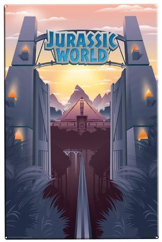 Jurassic World - Park Gates Tin Sign