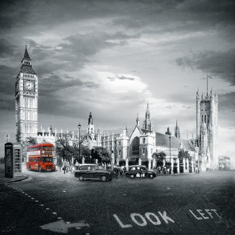 London Bus II Giclee Print