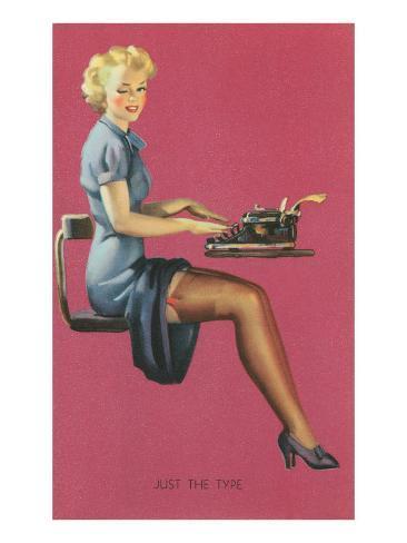 Just the Type, Secretary with Short Skirt Art Print