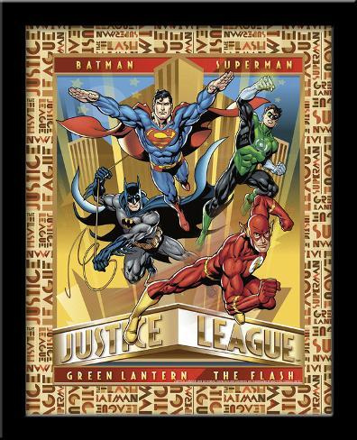 Justice League 3D Framed Art Poster - at AllPosters.com.au