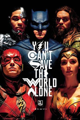 Justice League Faces Poster