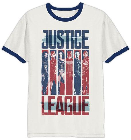 Justice League, film: t-shirt girocollo con bordi in colore contrastante T-shirt