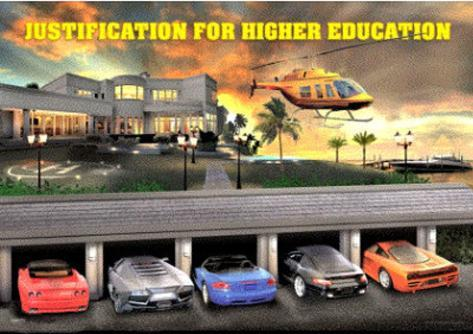 Justification for Higher Education 3-D Lenticular Poster 3 Dimensional Poster